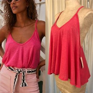 Free People XS Swing Tank Top Hot Pink Sandy